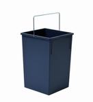 Hailo 1 x 15 liter - 350 mm hoog  Donker grijs