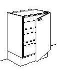 Onderkast geschikt voor 1 deur (excl. front)